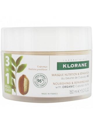 Клоран Маска для волос С органическим маслом купуасу Питательная и восстанавливающая 150 мл Klorane (С94169)