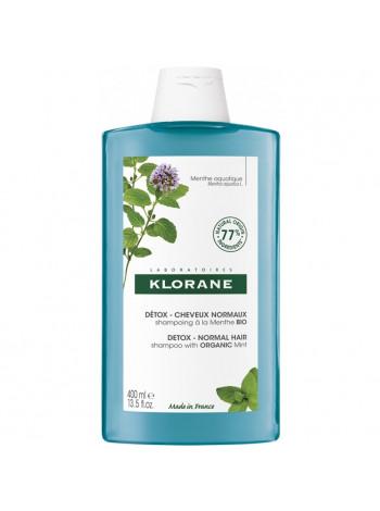 Клоран Шампунь-Детокс для волос с экстрактом водной МЯТЫ 400 мл Klorane (С81167)