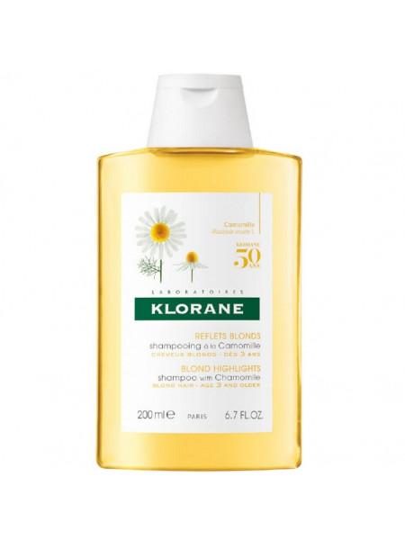 Клоран Шампунь для волос с экстрактом РОМАШКИ для светлых и русых волос 200 мл