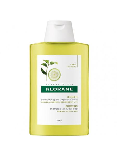 Клоран Шампунь для волос с мякотью ЦИТРОНА тонизирующий для частого применения 200 мл