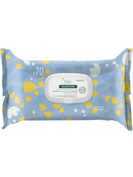 Клоран Бебе Салфетки мягкие очищающие с очищающим молочком 70 штук