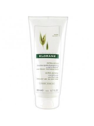 Клоран Бальзам-ополаскиватель для волос с молочком ОВСА облегчающий расчесывание 200 мл