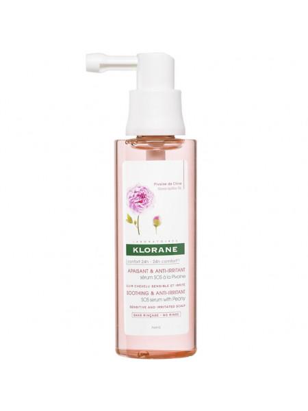 Клоран Сыворотка для волос SOS с экстрактом ПИОНА успокаивающая для чувствительной и раздраженной кожи 65 мл
